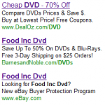Food Inc PPC ads
