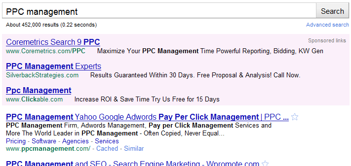 Adwords Purple Background