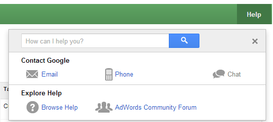 Google AdWords Help