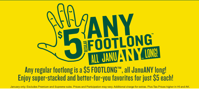 Subway JanuANY Promotion