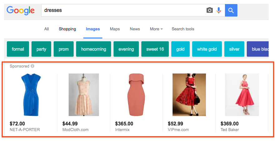 Shopping Ads in Image Search